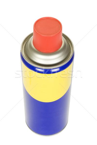 Aerossol lata metal azul químico Foto stock © imagedb