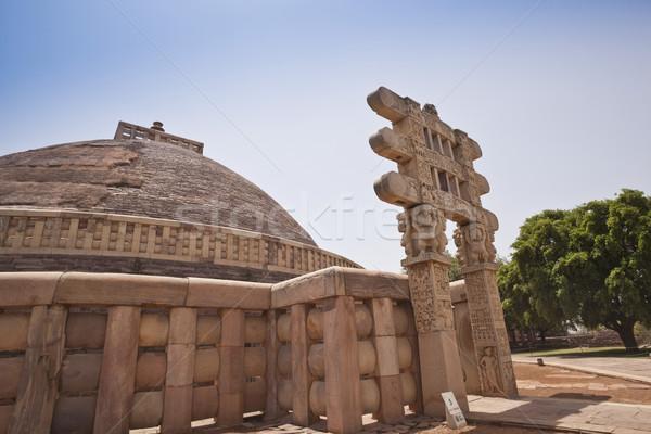 Muhteşem mimari din kapı fotoğrafçılık turizm Stok fotoğraf © imagedb