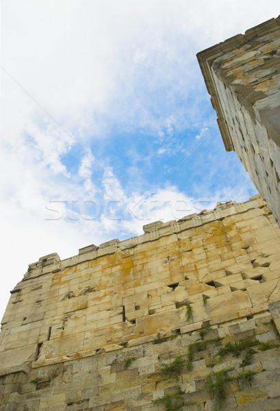 Ver parede Acrópole Atenas Grécia Foto stock © imagedb