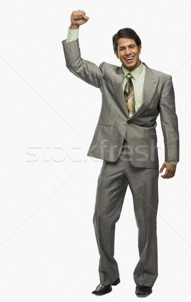Empresário punho excitação sorrir homem sucesso Foto stock © imagedb
