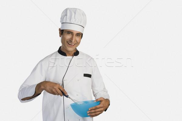 Portrait chef boire industrie bol Photo stock © imagedb