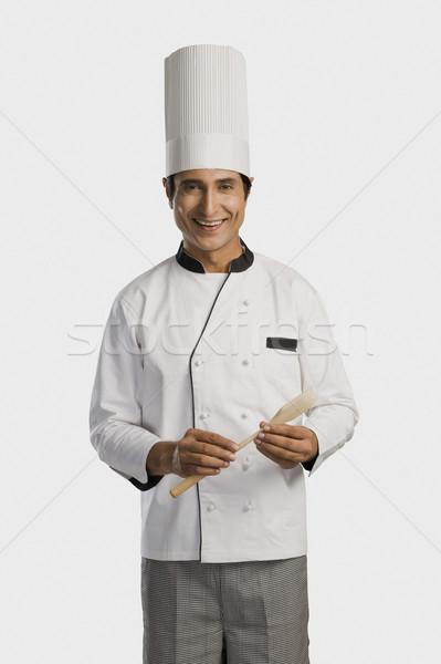 портрет повар пить промышленности Сток-фото © imagedb
