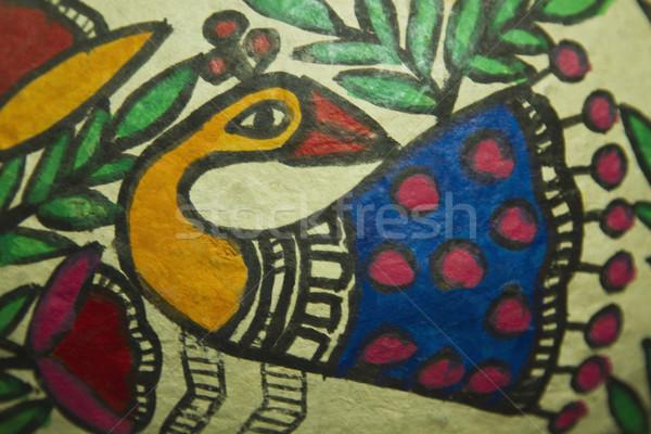 Pormenor têxtil pintura arte foto fundos Foto stock © imagedb