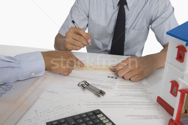 документа клиентов дома заседание Сток-фото © imagedb