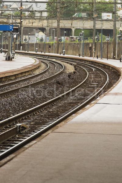 Eisenbahn Plattform Paris Frankreich Fotografie vertikalen Stock foto © imagedb