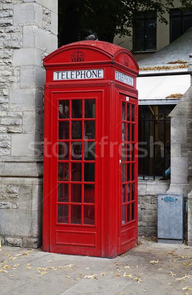 Telefon fülke utca Oxford Oxfordshire Anglia Stock fotó © imagedb