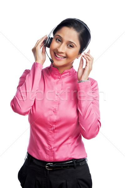 Portrait of a female customer service representative Stock photo © imagedb