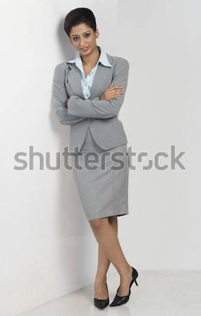 Portrait femme d'affaires permanent blanche femme beauté Photo stock © imagedb
