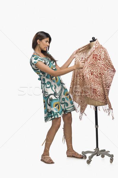 женщины моде дизайнера платье манекен креативность Сток-фото © imagedb
