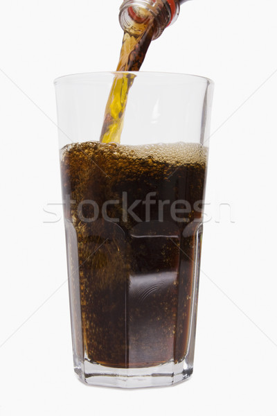 Bebida fria beber cola fundo branco close-up Foto stock © imagedb