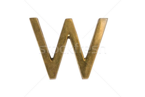алфавит металл письме сценария символ Сток-фото © imagedb
