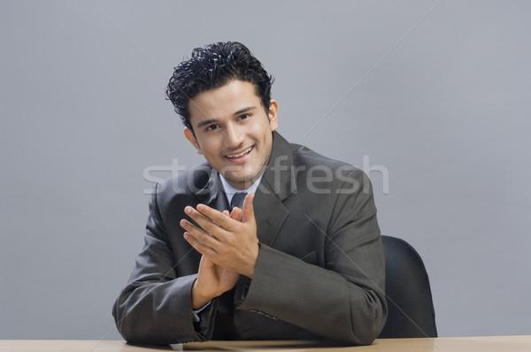 Retrato empresário negócio escritório felicidade Foto stock © imagedb