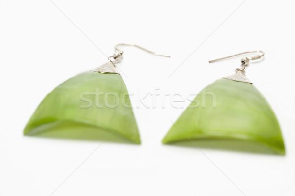 Primo piano coppia orecchini moda design gioielli Foto d'archivio © imagedb