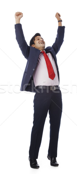Businessman looking excited Stock photo © imagedb