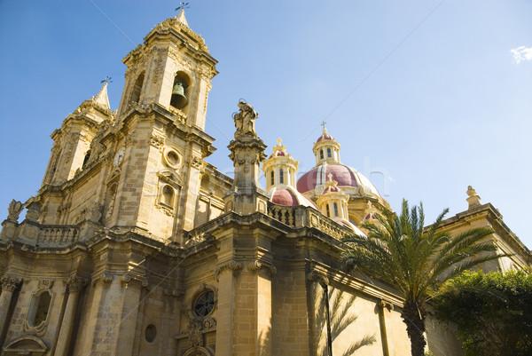 мнение Церкви дерево синий путешествия Сток-фото © imagedb