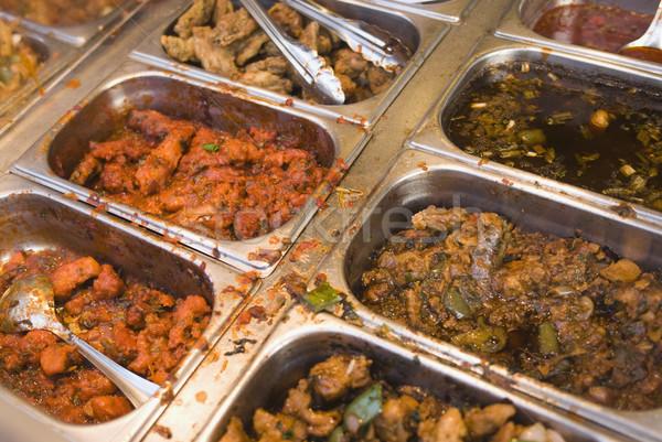 Hint bulaşık restoran yeni delhi Hindistan iş Stok fotoğraf © imagedb
