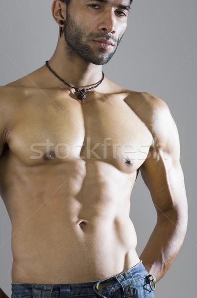Retrato macho homem corpo fitness saúde Foto stock © imagedb