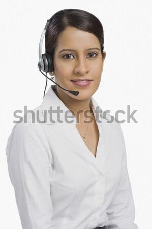 Femenino servicio al cliente representante apoyo mujer de negocios concentración Foto stock © imagedb