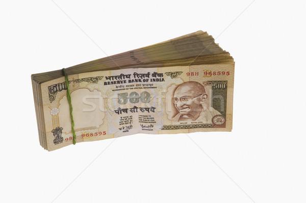 Közelkép indiai öt száz üzlet bankügylet Stock fotó © imagedb