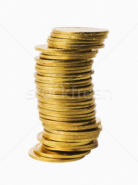 Gouden munten business groep financieren evenwicht Stockfoto © imagedb