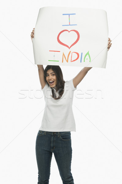 Kadın metin sevmek Hindistan Stok fotoğraf © imagedb