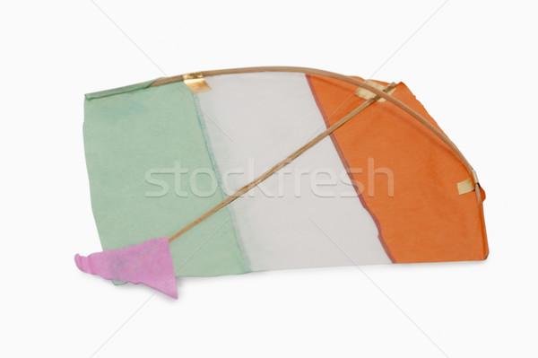 Közelkép trikolor papírsárkány papír narancs szabadság Stock fotó © imagedb