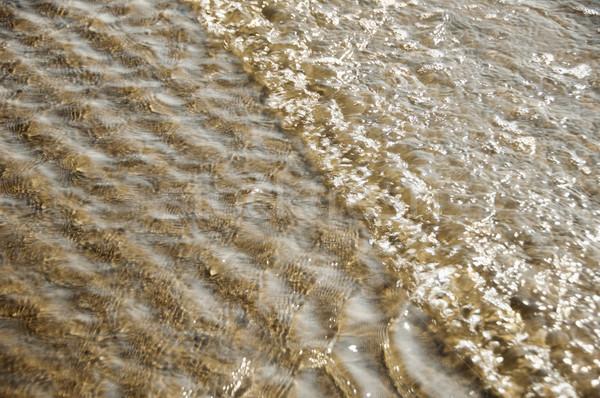 Magasról fotózva kilátás hullámok tengerpart Goa India Stock fotó © imagedb