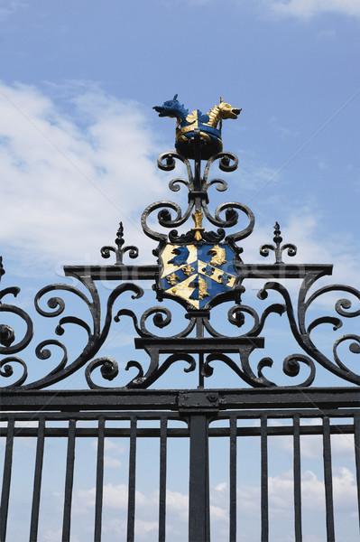Ver ferro portão oxford oxfordshire Foto stock © imagedb