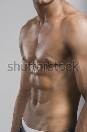 Widoku człowiek fitness piersi Zdjęcia stock © imagedb