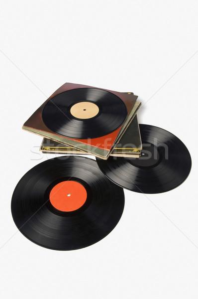 Grammofoon records business kantoor muziek Stockfoto © imagedb