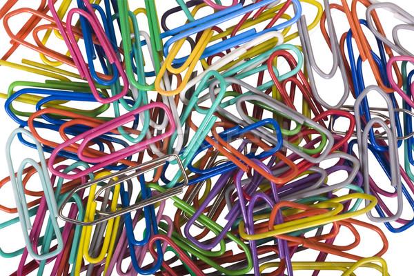 Papier groupe plastique choix isolé Photo stock © imagedb