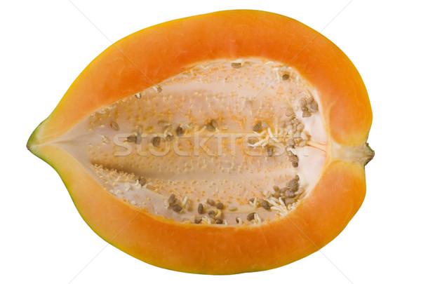 Közelkép fél gyümölcs fehér háttér organikus frissesség Stock fotó © imagedb