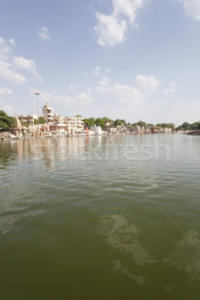 Temples at Shipra Ghat, Shipra River, Ujjain, Madhya Pradesh, In Stock photo © imagedb