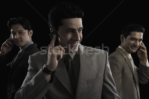 3  ビジネスマン 話し 携帯電話 ビジネス 技術 ストックフォト © imagedb