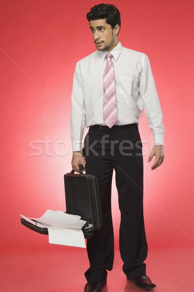 бизнесмен открытых портфель человека галстук Сток-фото © imagedb