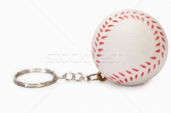 Közelkép baseball alakú kulcstartó sport labda Stock fotó © imagedb