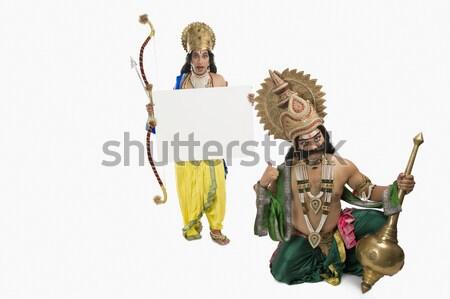 портрет человека мифологический характер улыбаясь Сток-фото © imagedb