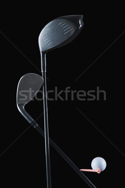 Golfclubs golfbal metaal witte spel Stockfoto © imagedb