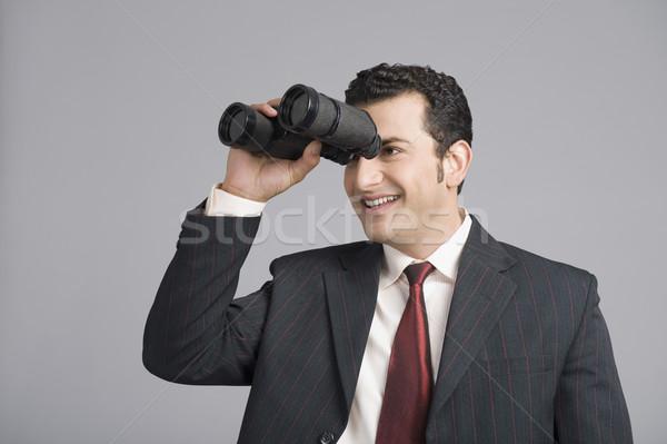 üzletember néz látcső technológia kaland kém Stock fotó © imagedb