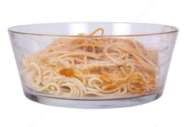 Primo piano ciotola alimentare tavola pasta Foto d'archivio © imagedb