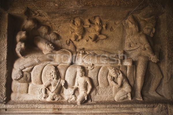 Szczegóły wąż kanapie kamień architektury posąg Zdjęcia stock © imagedb