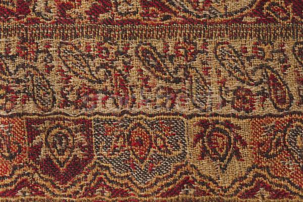 Kwiatowy wzór tkaniny sztuki dywan Zdjęcia stock © imagedb