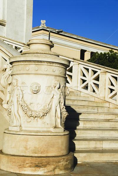 Lépcsőház oktatási épület Athén akadémia Görögország Stock fotó © imagedb