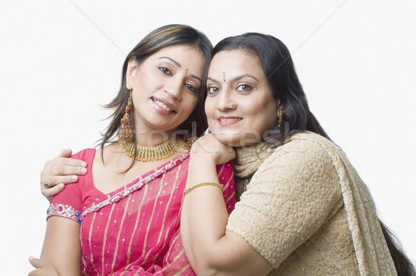 Portre kadın kız aile gülümseme sevmek Stok fotoğraf © imagedb