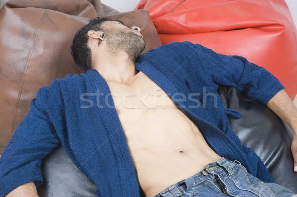 Macho man boon zakken fitness Stockfoto © imagedb
