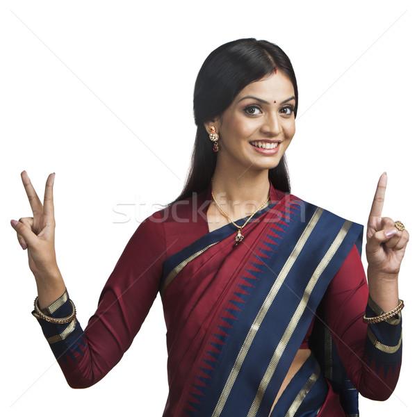 伝統的に インド 女性 肖像 小さな ストックフォト © imagedb