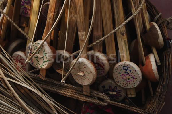 Produits vente marché new delhi Inde photographie Photo stock © imagedb