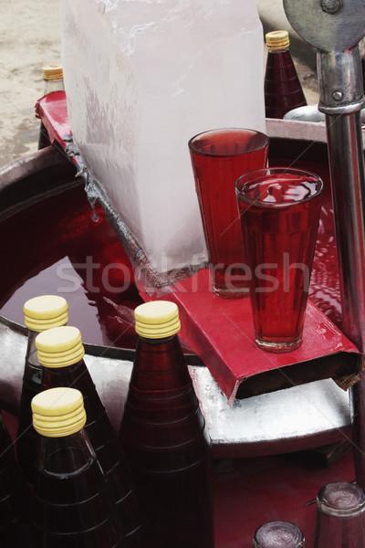 2 眼鏡 ドリンク 市場 ニューデリー インド ストックフォト © imagedb