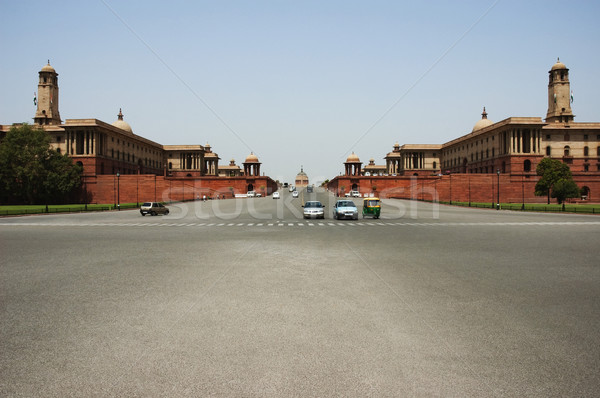 Voitures déplacement route new delhi Inde architecture Photo stock © imagedb