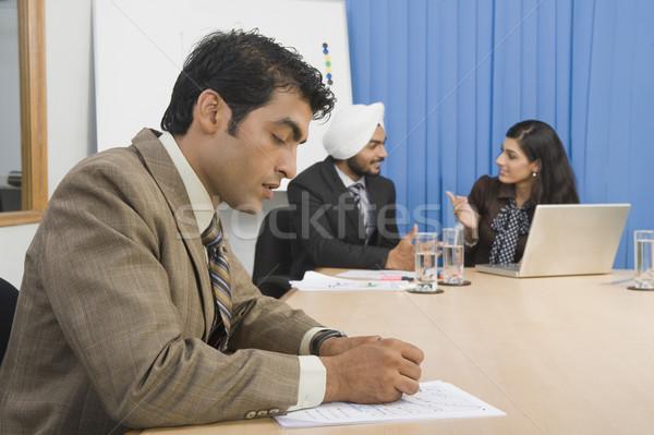 Affaires réunion bureau ordinateur eau Photo stock © imagedb